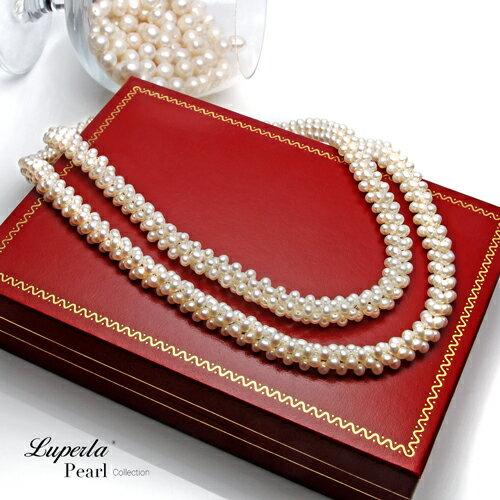 大東山珠寶 法式優雅 天然珍珠項鍊 歐美古典編織珠寶 4