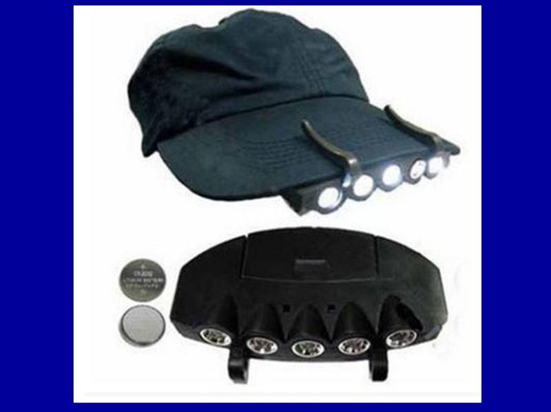 【愛家便宜購】5LED 夾帽燈 帽檐燈 帽子燈 釣魚頭燈 夜釣燈