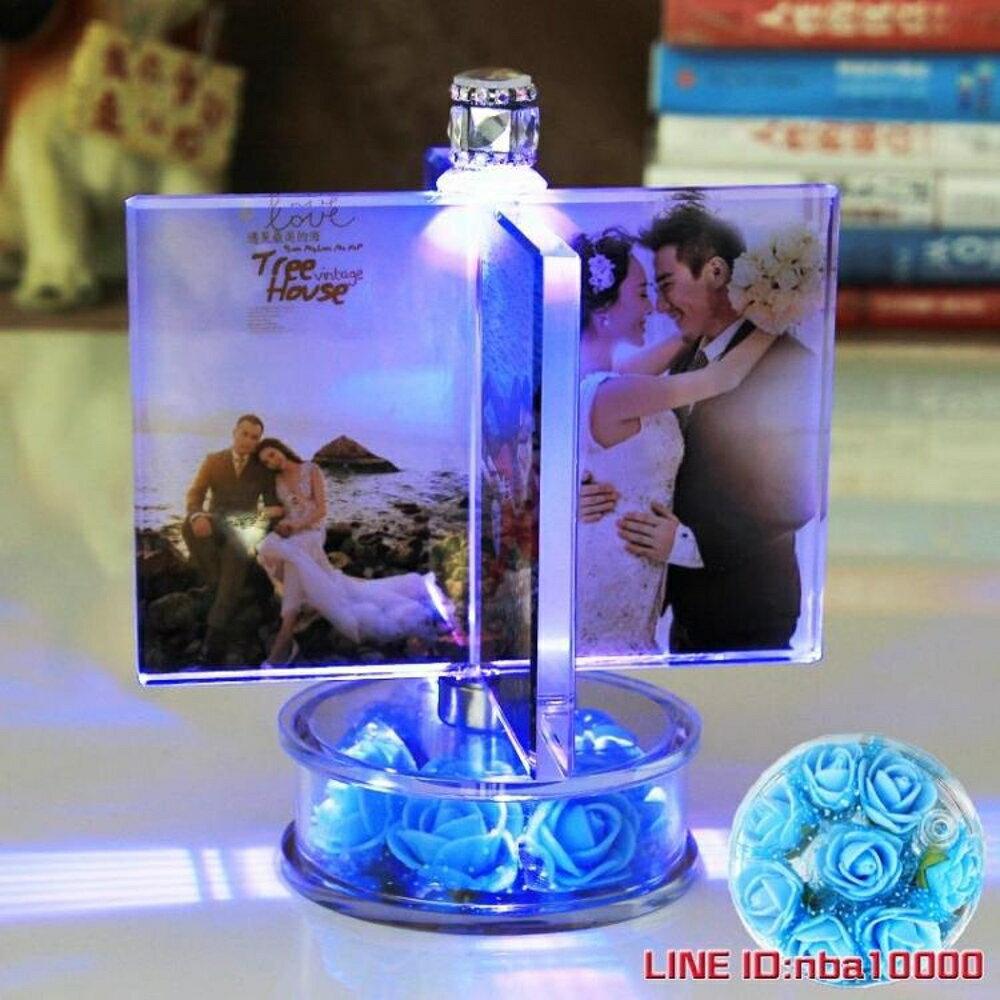 風車旋轉相框擺台相冊本diy手工定制照片創意情侶浪漫家庭紀念冊 CY潮流站