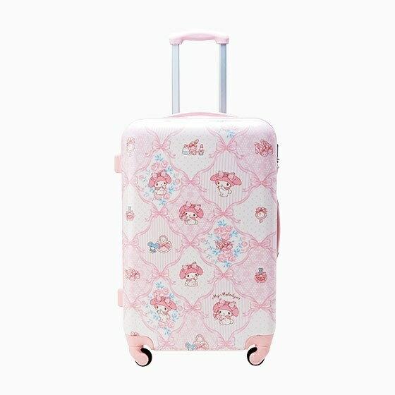 【真愛日本】4901610214923 硬殼旅行箱SS-MM粉AAS 三麗鷗 Melody 美樂蒂 行李箱 登機箱