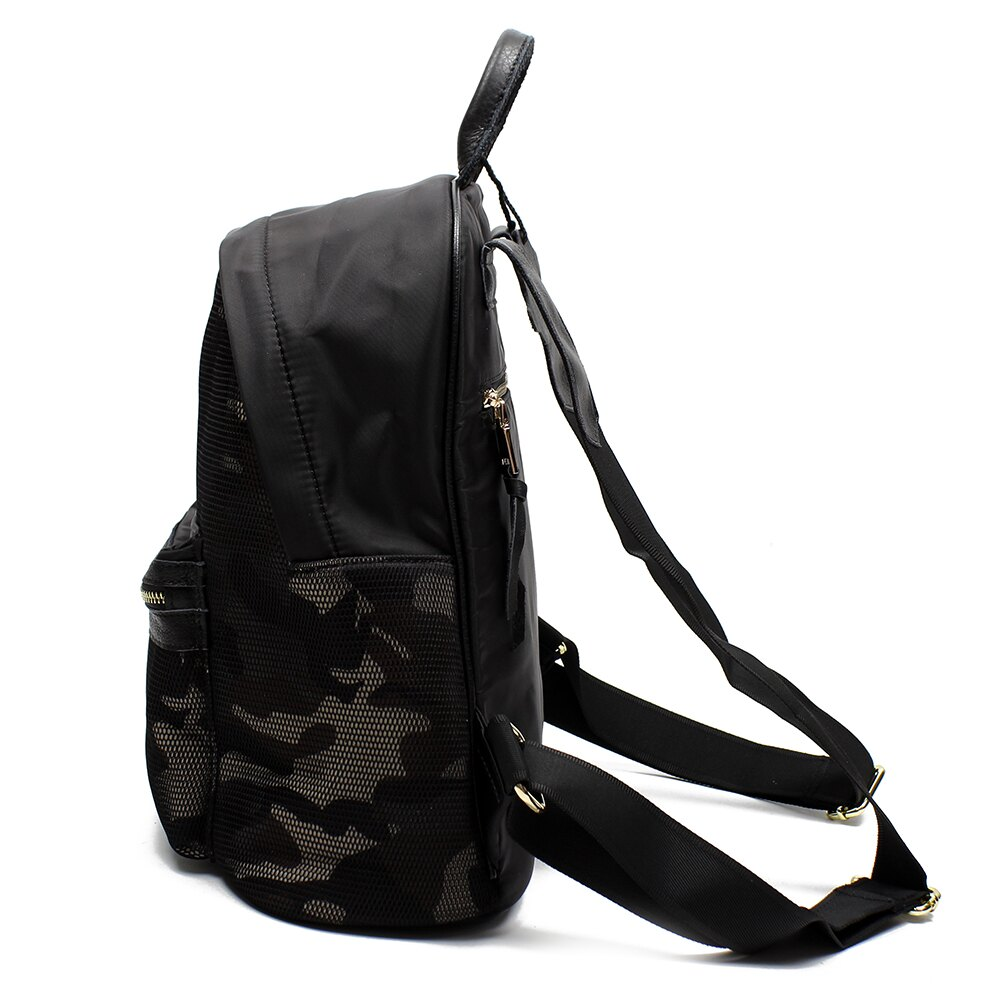 【BEIBAOBAO】韓版迷彩網布配真皮後背包(迷彩紋) 2