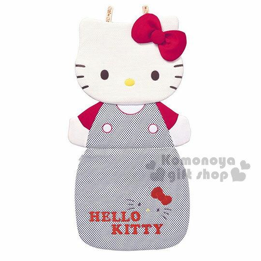 〔小禮堂〕Hello kitty 汽車用椅套《單入.黑格紋吊帶褲》輕鬆打造愛車佈置