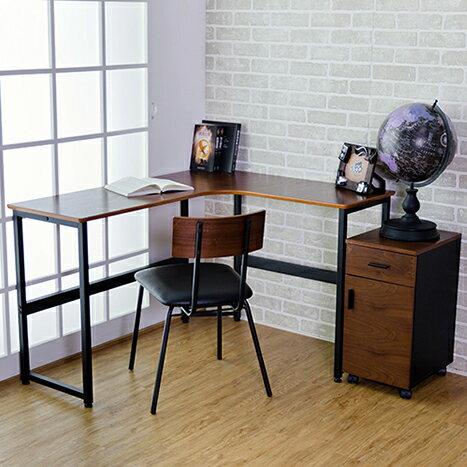 MIT日式一體成形L型書桌