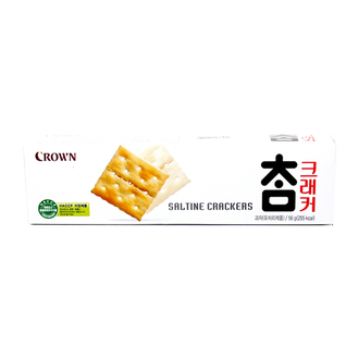 韓國進口 CROWN 可瑞安-小蘇打餅乾56g