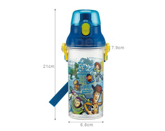 【SKATER】【兒童水壺】玩具總動員 直飲透明水壺 480ml