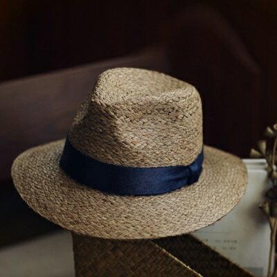 草帽手工編織爵士帽-海邊渡假時尚有型女遮陽帽2色73si75【獨家進口】【米蘭精品】
