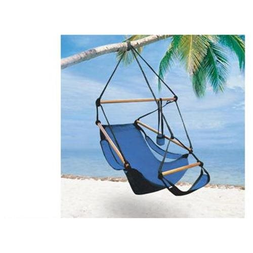 High Quality Deluxe Royal Blue Air Chair Hammock Swing Hanging With Pillow U0026 Drink  Holder 0