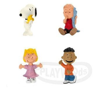 【Playwoods】[Schleich模型] 史奴比四合一角色組Snoopy Collection-史奴比抱抱糊塗塌克/莎莉布朗/奈勒斯/富蘭克林(德國品牌/Peanuts花生漫畫/史努比家族/查理..