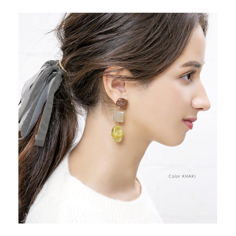 日本CREAM DOT  /  復古天然石穿孔耳環  /  qc0471  /  日本必買 日本樂天直送(1490) 5