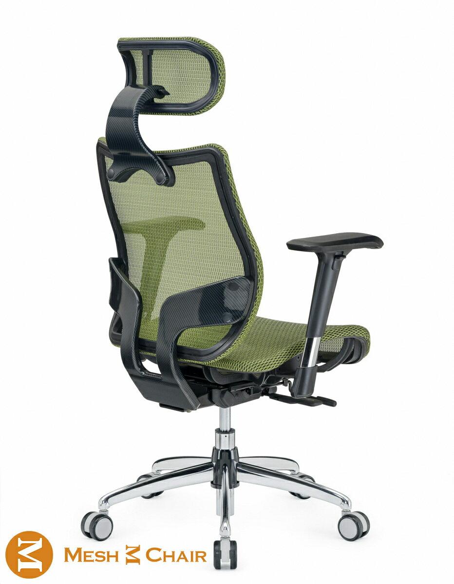 [ 多功能電腦椅 ] 恰恰-人體工學網椅 電腦椅 旗艦版 附頭枕 (蘋果綠)