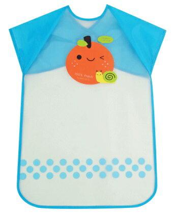 『121婦嬰用品館』拉孚兒 擦可淨用餐圍兜(加長型) - 橘子