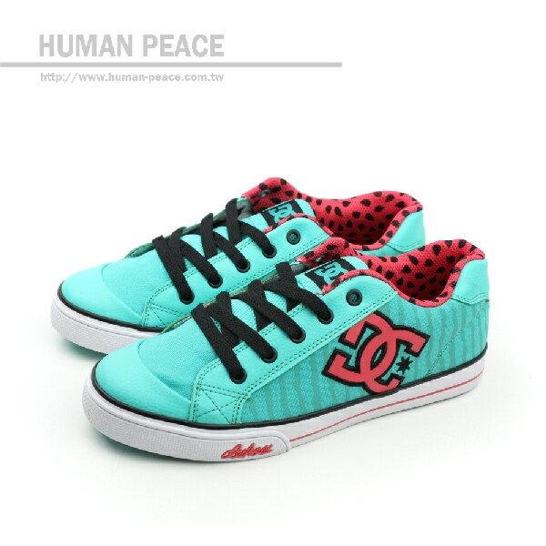 DC CHELSEA GRAFFIK 休閒鞋 藍綠 大童 no020