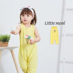 Little moni 立體冰淇淋連身褲-黃色