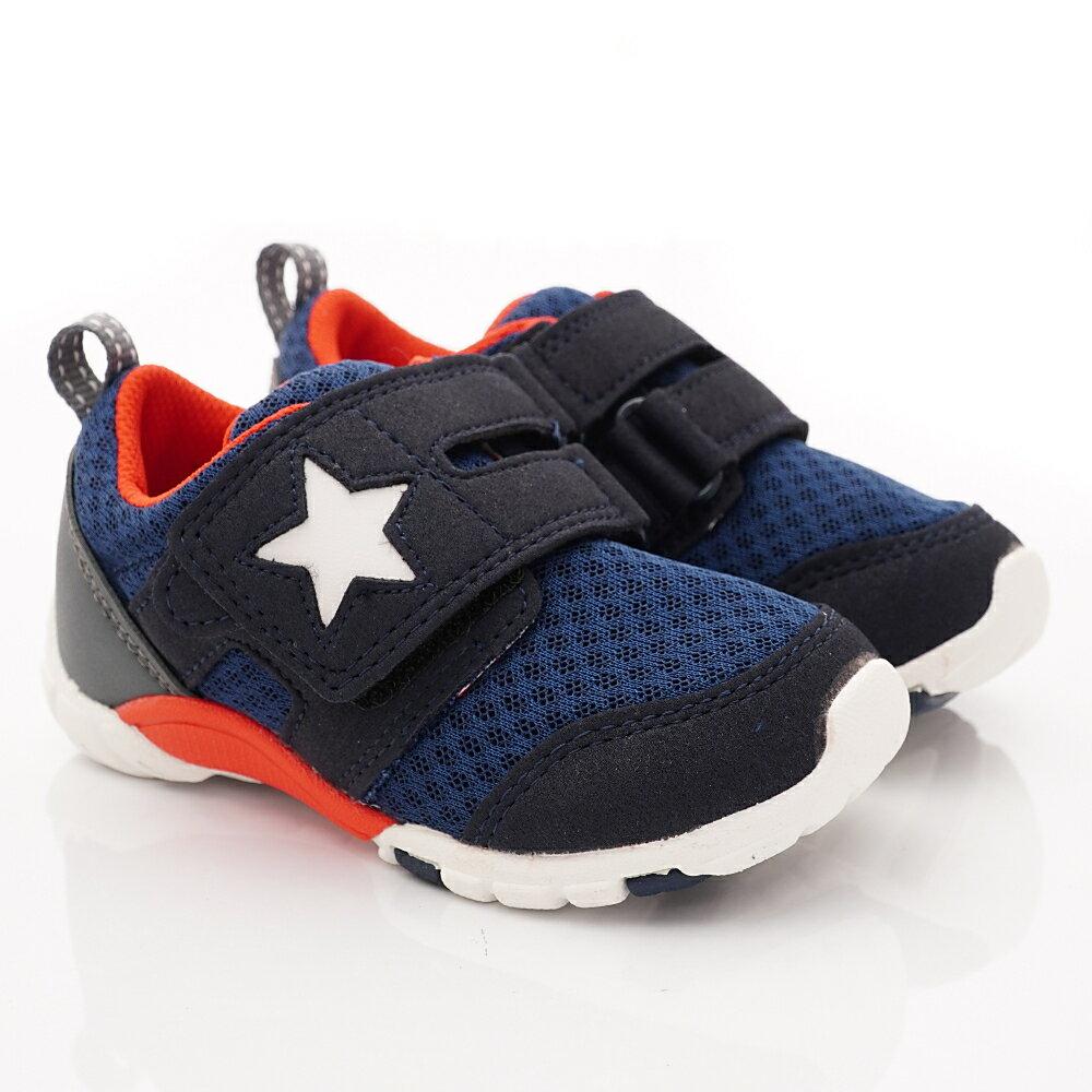 日本月星頂級童鞋 四大機能抗菌運動鞋款-MSC216635深藍(中小童段) 1