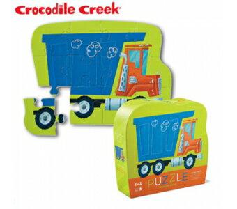 【美國CrocodileCreek】迷你造型拼圖系列-傾卸車