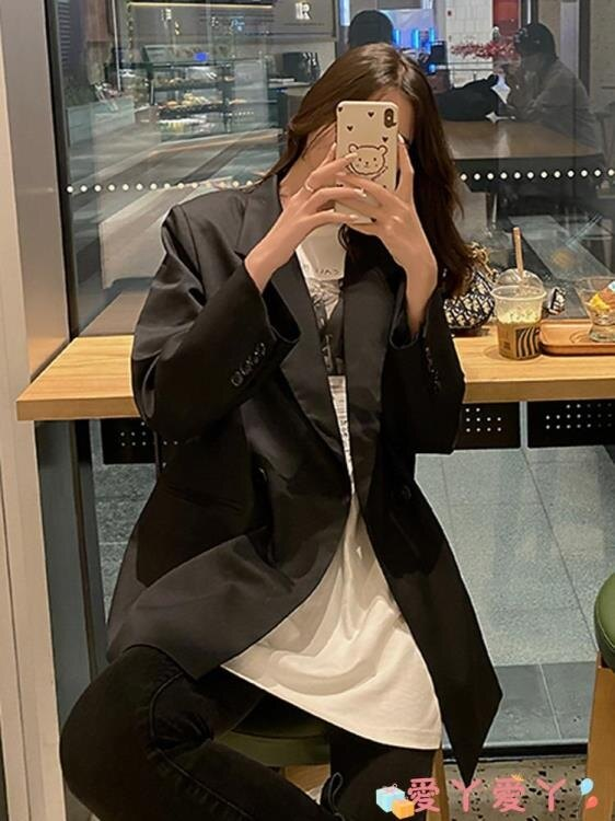 風衣外套 炸街外套女春季2021年新款韓版休閒氣質小西服洋氣寬鬆西裝風衣潮