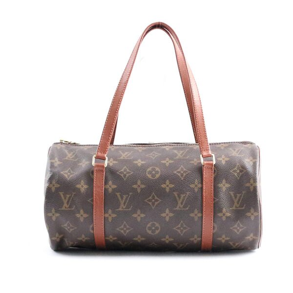 【LV】monogram 手提 圓桶包 (咖啡色) M51389