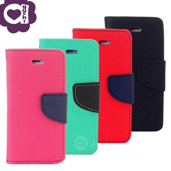 ASUSZenFoneLiveZB501KL馬卡龍雙色系列側掀支架式手機皮套磁吸扣帶桃綠紅黑多色可選