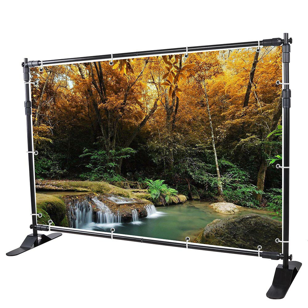 10 Ft Adjustable Background Banner Stand Backdrop Exhibitor Expanding Display 0