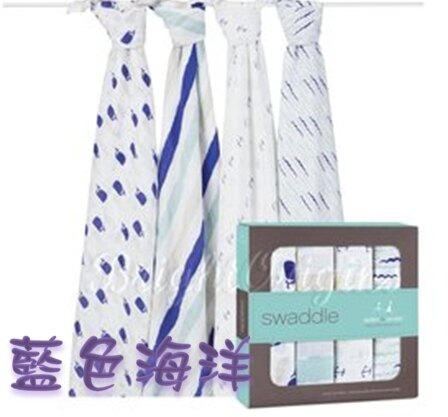 【淘氣寶寶】Aden + Anais全款式 聯名設計雙層細紗布輕柔新生兒包巾(4入裝) FBPPL 8