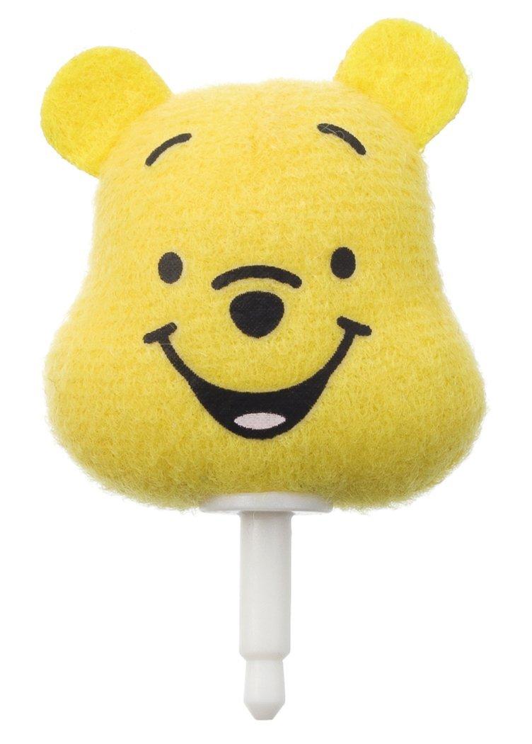 X射線【C201271】小熊維尼Winnie the Pooh 手機防塵塞,耳機孔塞/防塵塞/耳機塞/吊飾/裝飾