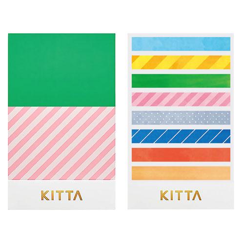 【日本KITTA】隨身攜帶和紙膠帶slimKITS001亮色系本