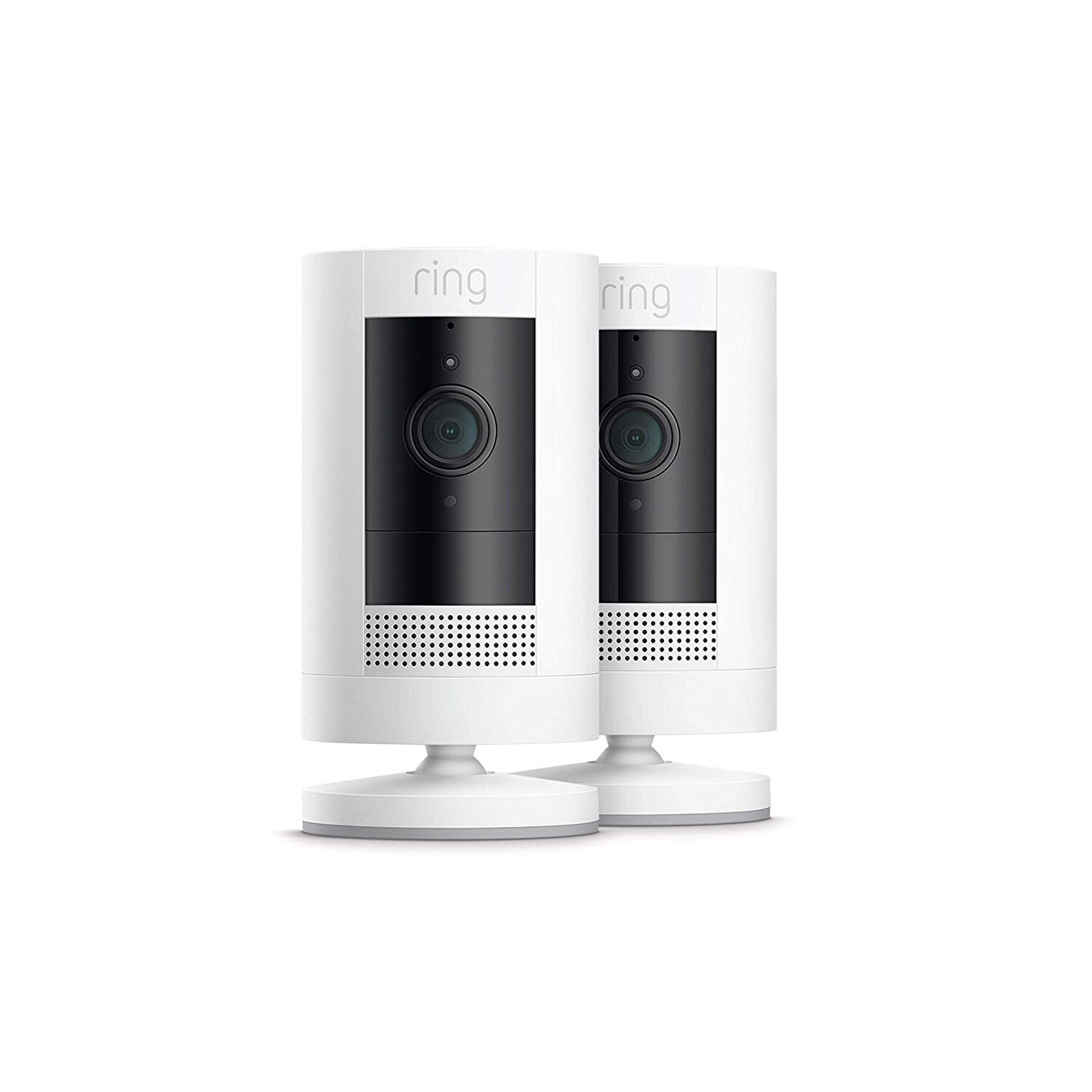 2-Pack Ring Stick Up Cam Battery 1080p Security Camera