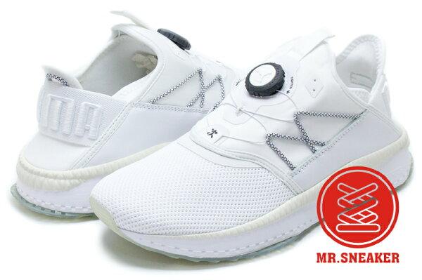 ☆Mr.Sneaker☆PumaTSUGIDiscIGNITE緩震轉盤襪套式冰底白色男段