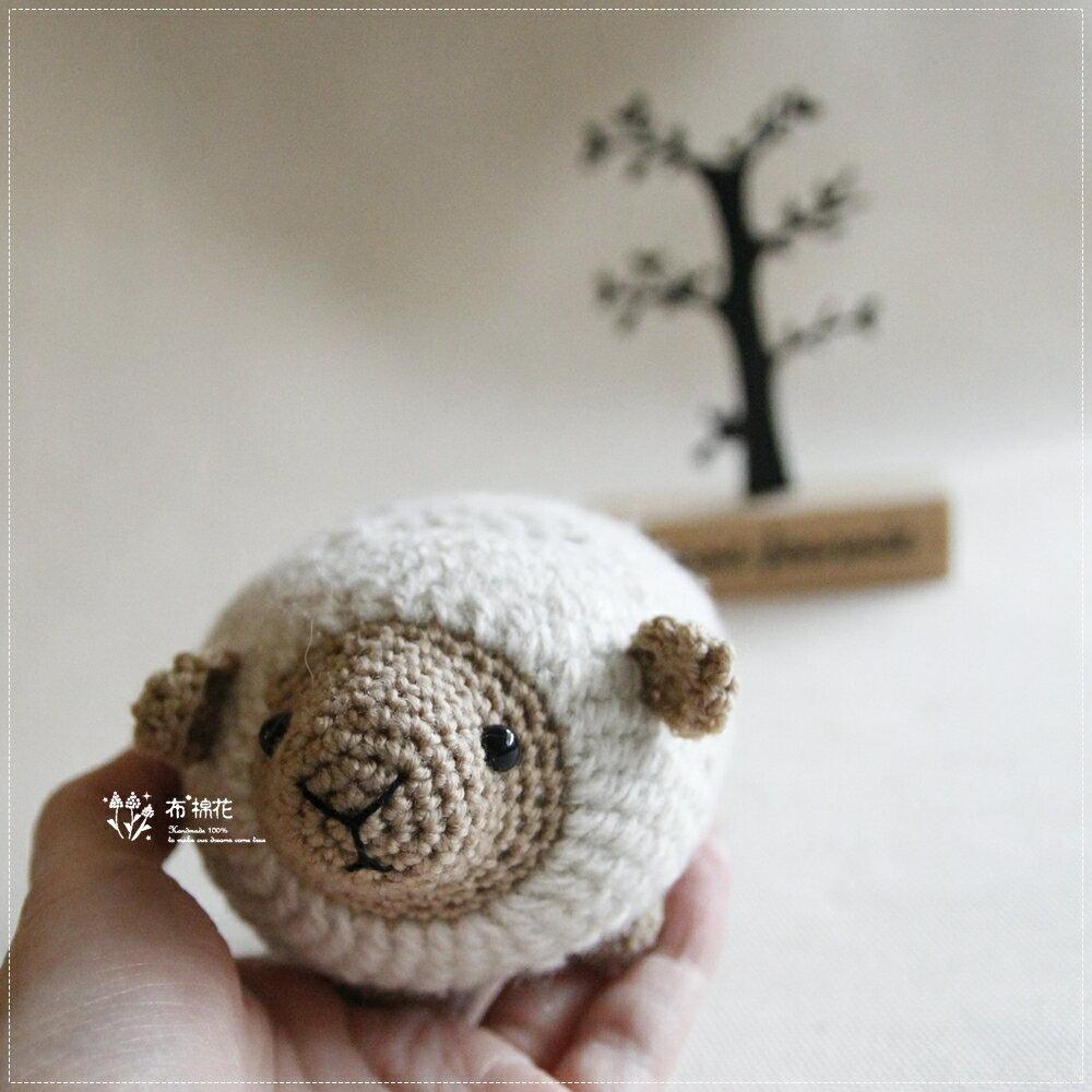 【布棉花】手創, 手鉤玩偶, 手作娃娃, 角落生物, 辦公室, 繡花 羊咩咩