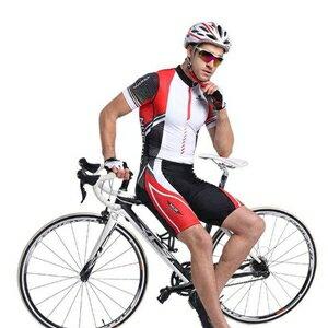 美麗大街【BK105081779】 鐵人三項防曬透氣背心泳衣單車連身褲比賽專業服(短袖款)