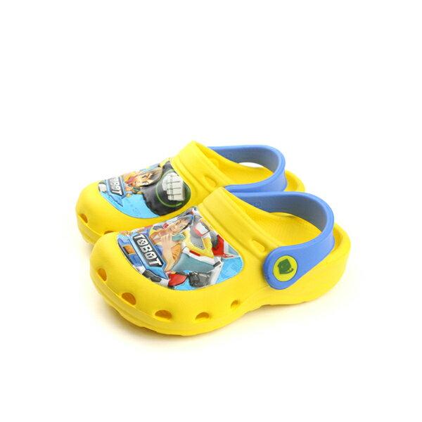 機器戰士 TOBOT 托寶兄弟 涼鞋 拖鞋 雨天 防水 輕 黃色 中童 TOKS76624