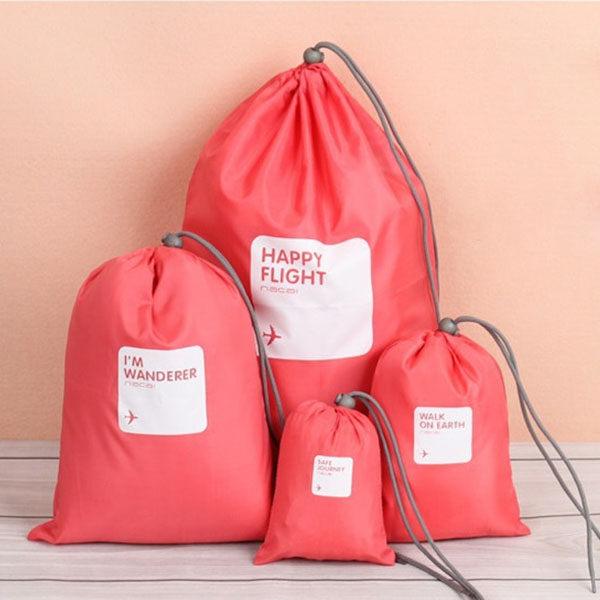 束口袋-韓國防水旅行必備輕巧收納4件組束口袋 一組4入【AN SHOP】 - 限時優惠好康折扣