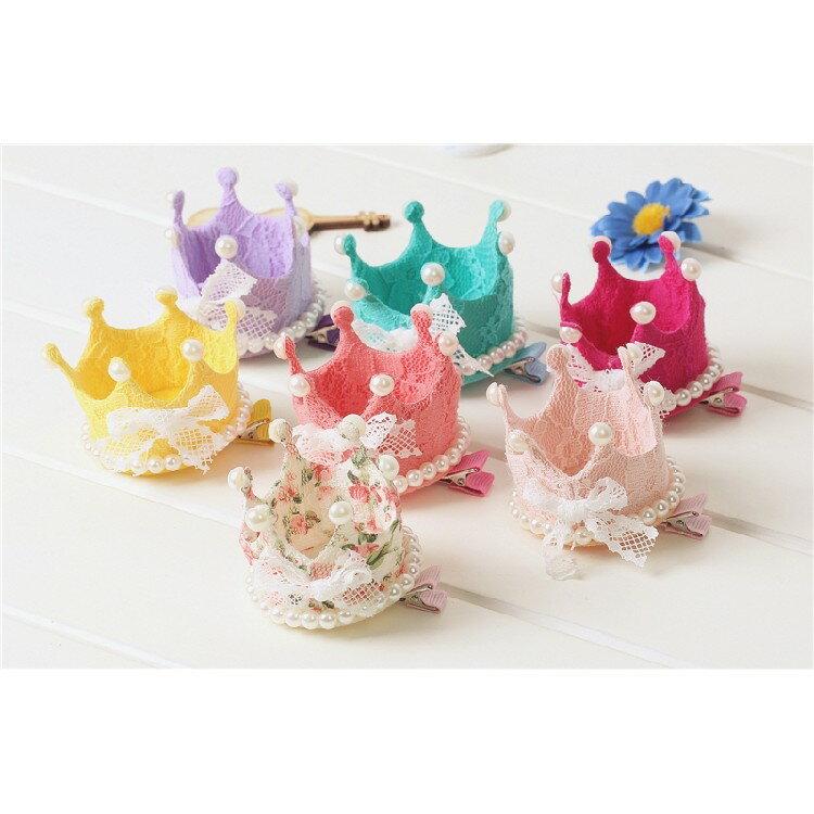 【現貨】韓國熱賣飾品~女童立體髮夾 蕾絲皇冠髮夾 公主款髮飾