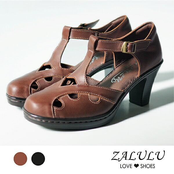 Z1203OL系列.超值牛皮性感簍空系帶防水台羅馬涼鞋高跟鞋-黑色咖啡-35-39