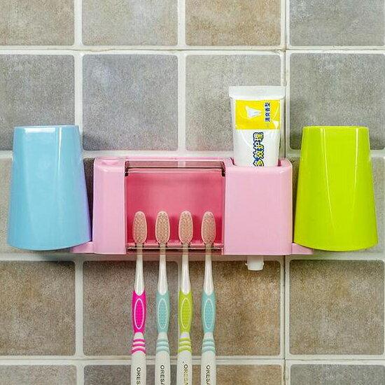 ♚MY COLOR♚多功能洗漱收納架 浴室 衛浴 牙刷 牙膏 掛壁 洗面乳 整理 漱口杯 刮鬍刀【H18】