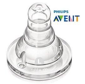 『121婦嬰用品館』AVENT 標準口徑防脹氣奶瓶奶嘴L號2入-6M+