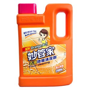 妙管家 去油 地板清潔劑-清心橙香 2000g