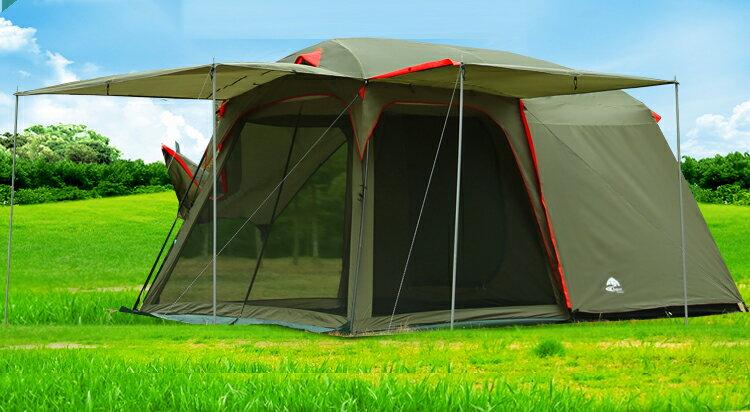 戶外用品 露營一房一廳4-6人家庭帳.炊事帳.客廳帳.帳篷