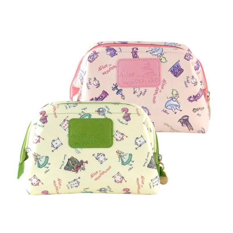 Disney迪士尼 愛麗絲夢遊仙境化妝包 蘋果綠色 正版授權 1