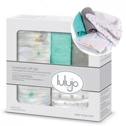 【淘氣寶寶】加拿大 lulujo 嬰兒包巾禮盒組-夢境【100%純棉,新生兒彌月禮最佳首選】