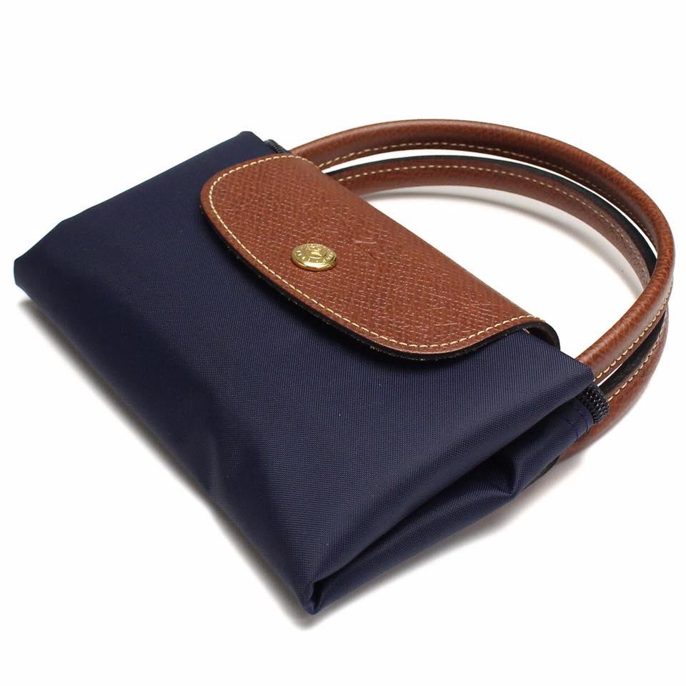 【LONGCHAMP】 LE PLIAGE 基本摺疊款/短把水餃包(深藍/小) 4