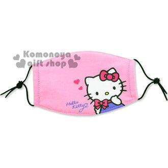 〔小禮堂〕Hello Kitty 兒童平面口罩《粉.蝴蝶結.摸下巴》感冒對策用品