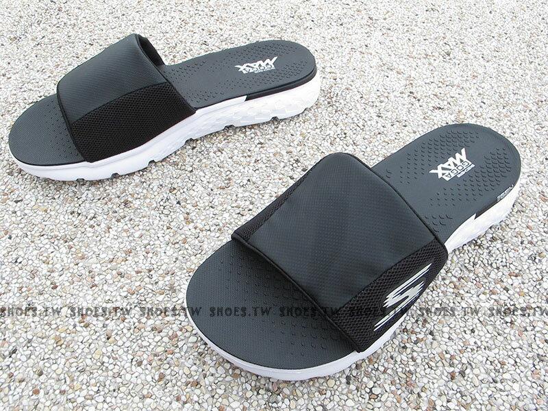 Shoestw【54260BKW】SKECHERS 拖鞋 ON THE GO 健走鞋 黑白 瑜珈鞋墊 男生尺寸