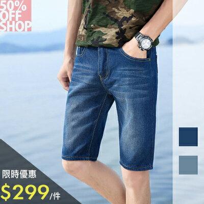 限時特價$299→50%OFFSHOP牛仔短褲五分牛仔褲【01AC035047P】