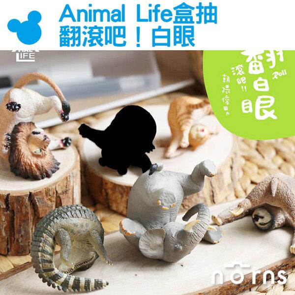 NORNS【AnimalLife盒抽翻滾吧!白眼】翻白眼公仔動物盒玩朝隈俊男第三彈樹懶鱷魚獅子貓咪大象
