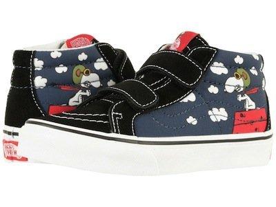 VANS SK8-MID REISSUE 藍黑紅 史努比 小童鞋 US 1~13.5 VN0A346YOHK D