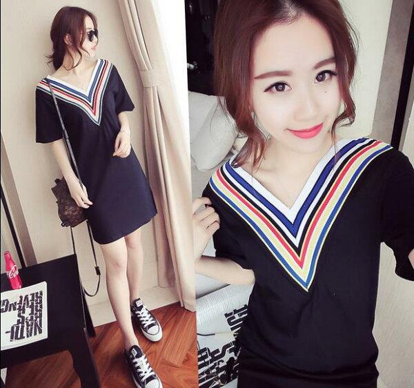 韓版 新款修身性感小衫中長款顯瘦連身裙  洋裝    現貨+預購  韓風衣舍