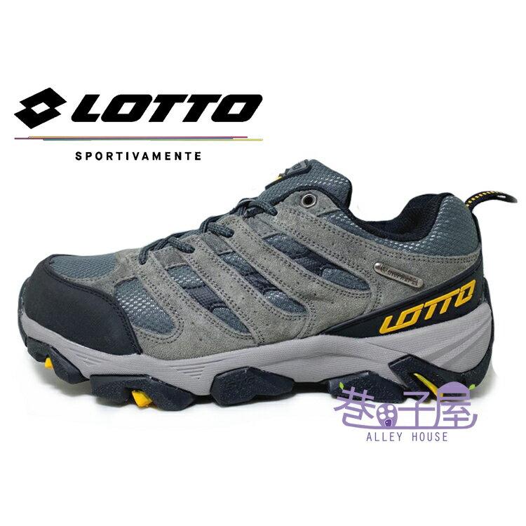 LOTTO樂得-義大利第一品牌 男款郊山健行防水戶外運動鞋 登山鞋 [5698] 灰【巷子屋】