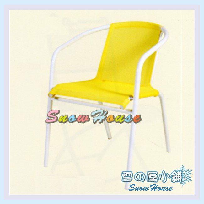 ╭☆雪之屋居家生活館☆╯ C96001 P39鐵製紗網椅-(白管黃網)/櫃檯椅/吧檯椅/辦公椅/摺疊椅/學生椅/休閒椅