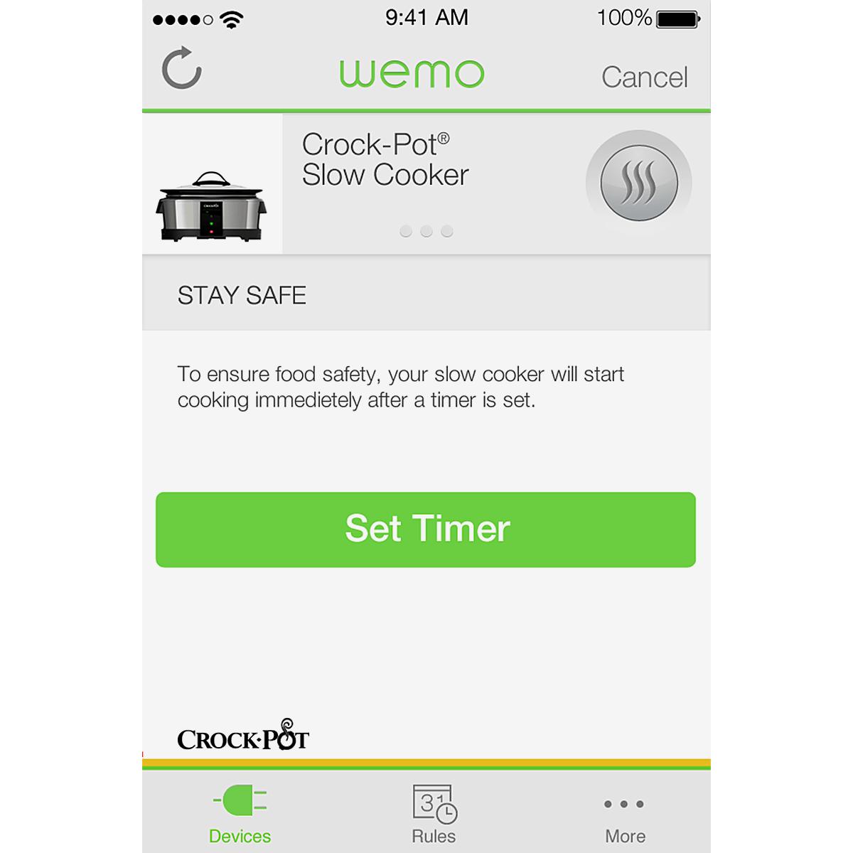 Crock-Pot® 6-Quart Wifi-Enabled Smart Slow Cooker with WeMo® - Stainless Steel, SCCPWM600-V2 5